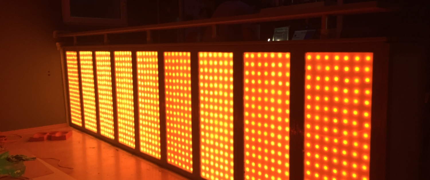 blinkende-lichter led bar in orange