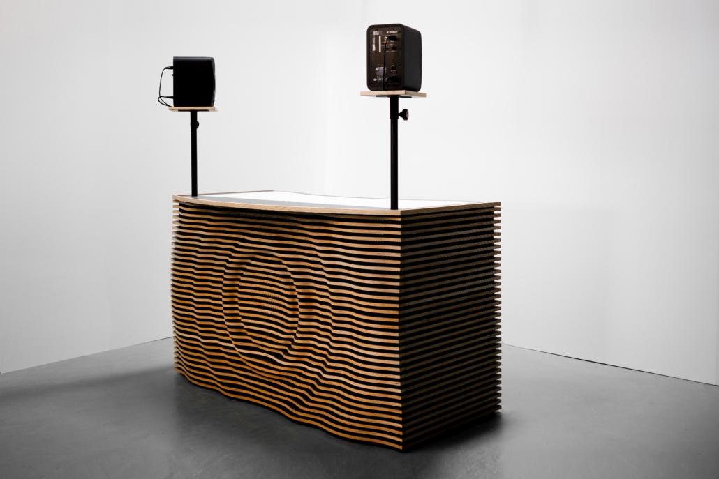 blinkende-lichter soundwave dj table mit sound seite